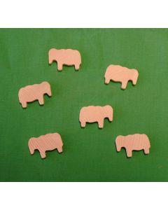 Schaf aus Holz (2,5 x 4 cm)