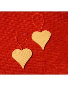 Herz aus Holz (5 x 5 cm) zum Aufhängen